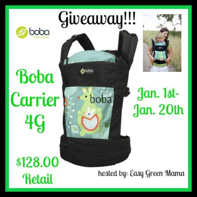 Free Blogger Opp: Boba Carrier 4G Giveaway Event