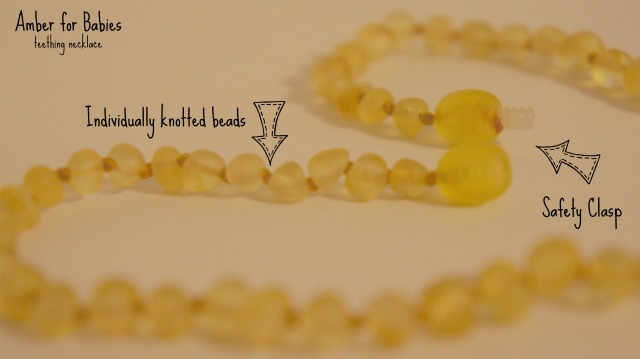 Amber for Babies teething necklace