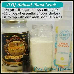 DIY Natural Hand Scrub ~ Get Silky Soft Hands ~ Free Printable
