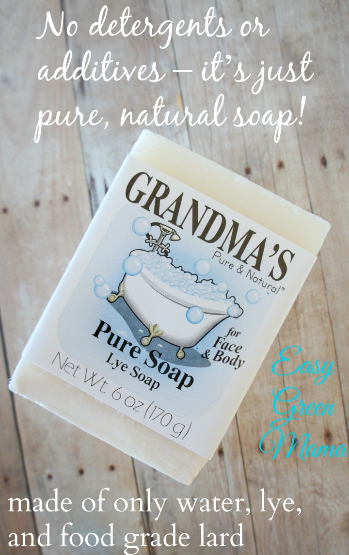Grandma's Lye Soap is just pure and natural soap!