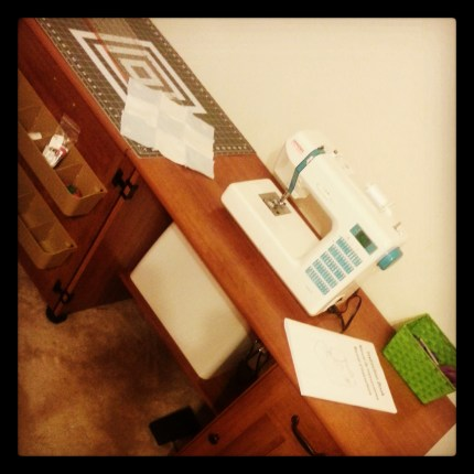 My sewing machine and table