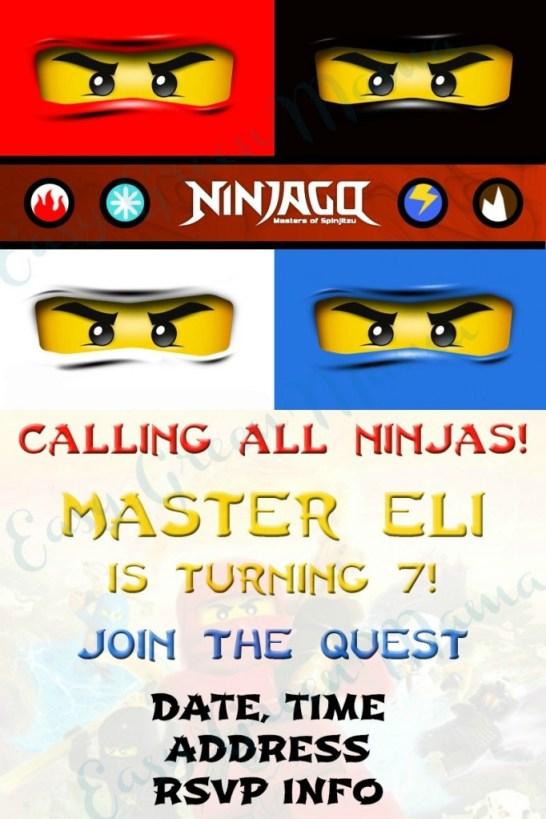 ninjago invite EXAMPLE