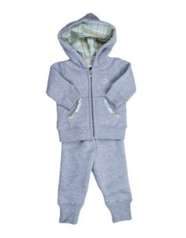 Baby Organic Hoodie Jacket and Pant Set for a Boy