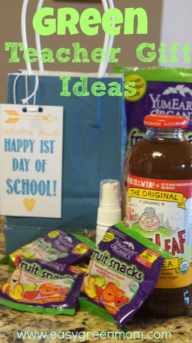 Green Teacher Gift Ideas #green #ecofriendly #organic