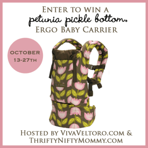 ERGObaby Petunia Pickle Bottom Baby Carrier Giveaway
