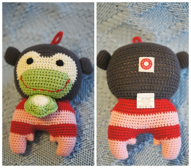 Franck & Fischer Buster Monkey Musical Toy front and back
