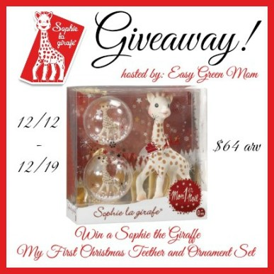 Sophie the Giraffe My First Christmas Teether and Ornament Set Giveaway
