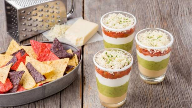 Multi-Layered Dip Cups