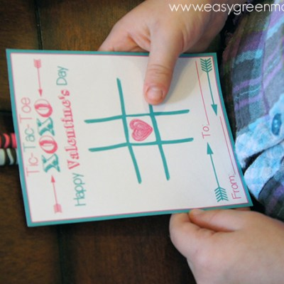 Tic Tac Toe Valentine's Day Card ~ Free Printable