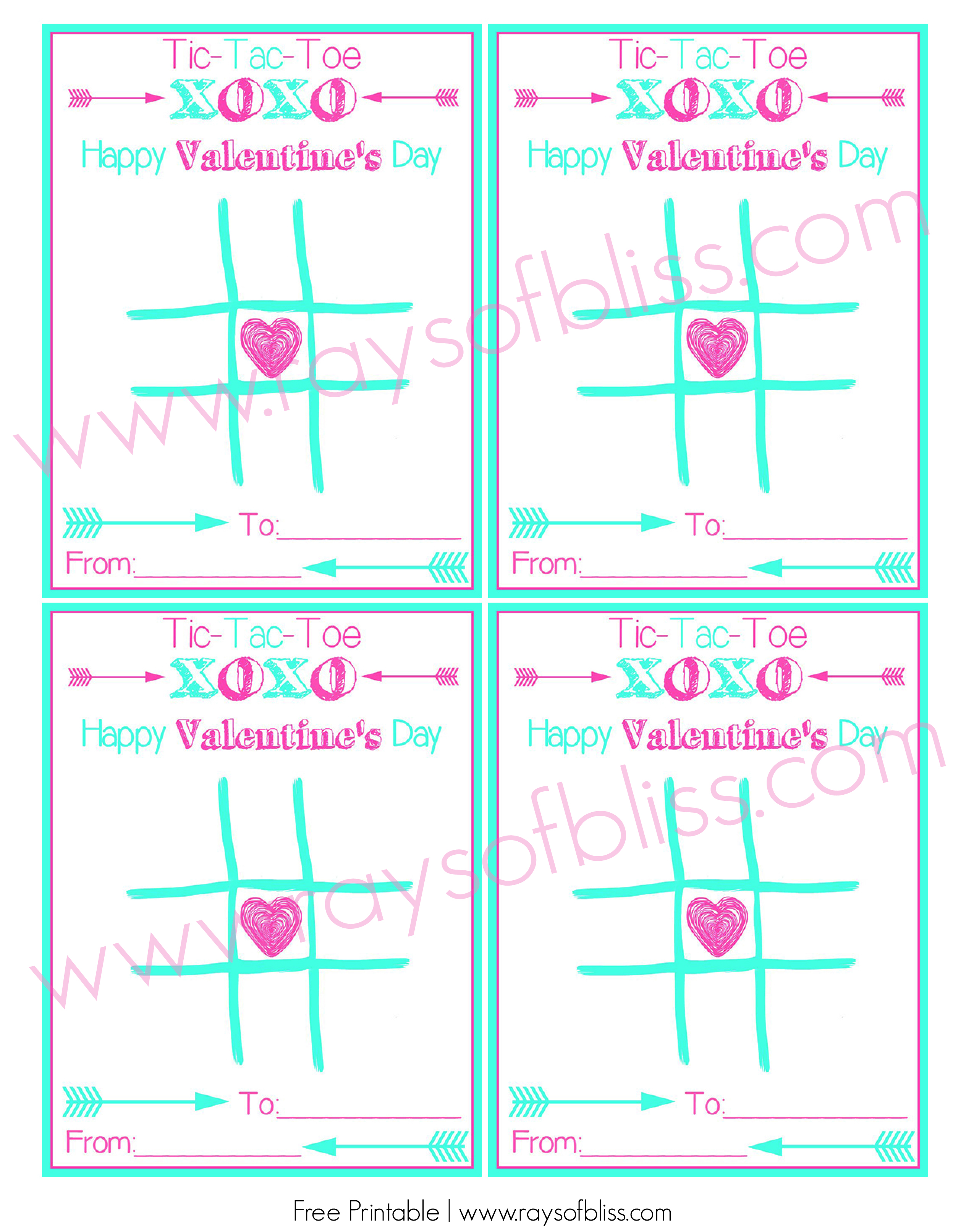 image relating to Tic Tac Toe Valentine Printable known as Tic Tac Toe Valentines Working day Card ~ Totally free Printable - Rays of