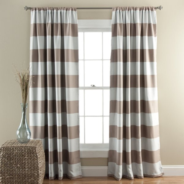 lush decor blackout stripped curtains