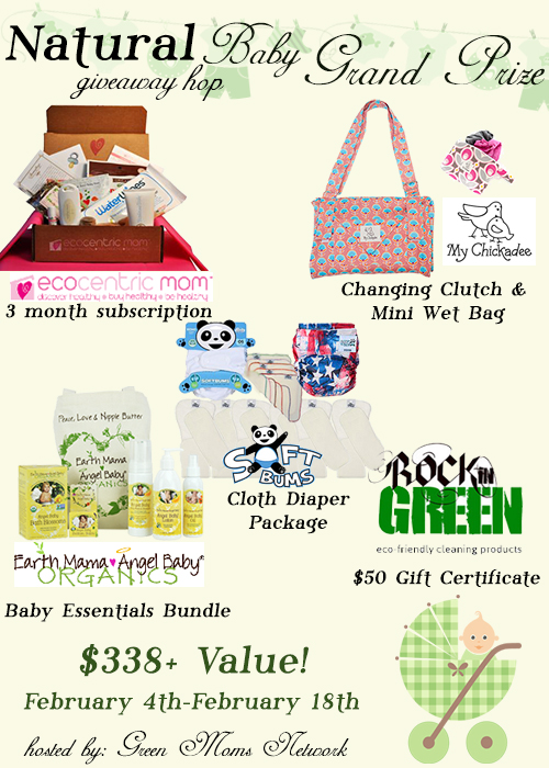 GMN Natural Baby Giveaway Hop Grand Prize $338 value!