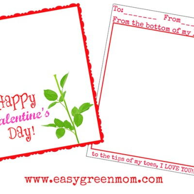 Valentine's Day Kids Hand-print and Foot-print Free Printable