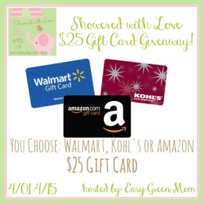 Showered with love $25 gift card giveaway