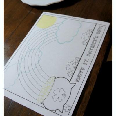 St. Patrick's Day Art Activity Free Printable