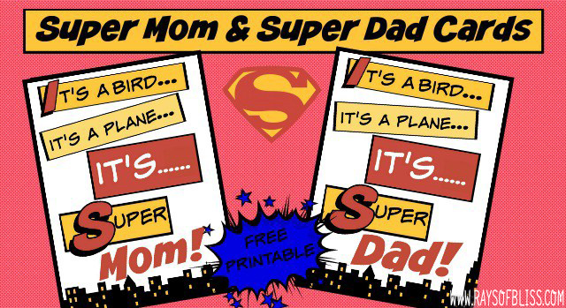 Super Mom and Super Dad Cards