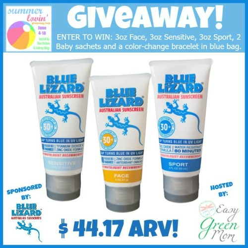 Blue Lizard Sunscreen Giveaway!  #SummerLovin