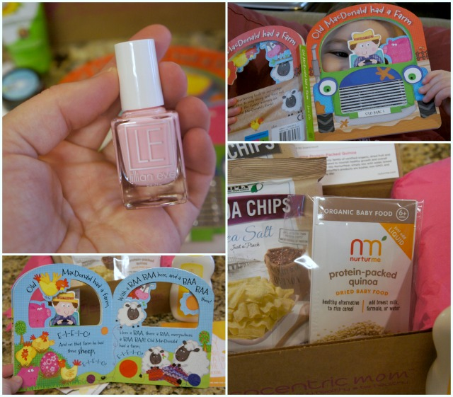 Ecocentric Mom box book, nail polish