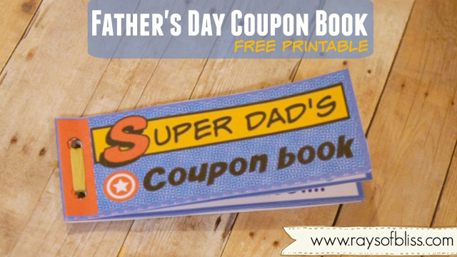 Super Dad Father S Day Coupon Book Free Printable Rays Of Bliss