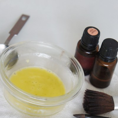 Homemade Makeup Brush Cleaner with essential oils