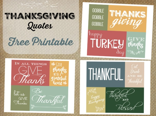 Thanksgiving Quotes Free Printable