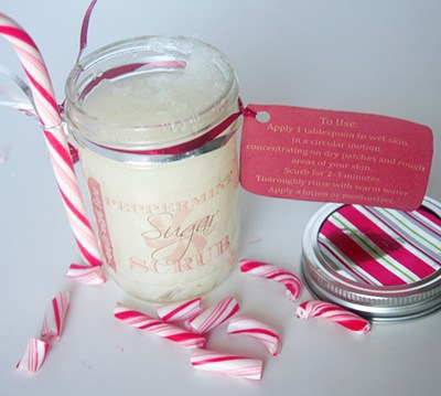 Homemade Peppermint Sugar Scrub + Free Printable Labels