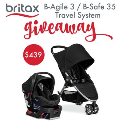 Britax 2016 B-Agile 3/B-Safe 35 Travel System Giveaway