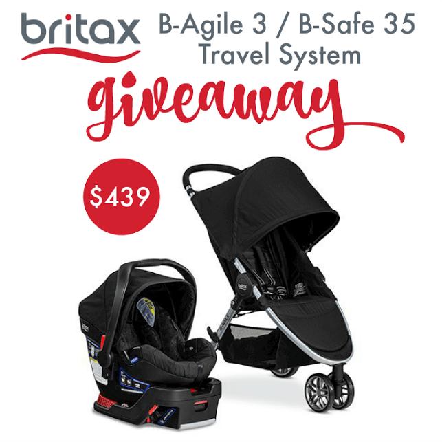 Britax 2016 B-Agile 3B-Safe 35 Travel System Giveaway