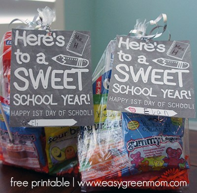 First Day of School Free Printable- Here's to a SWEET School Year!