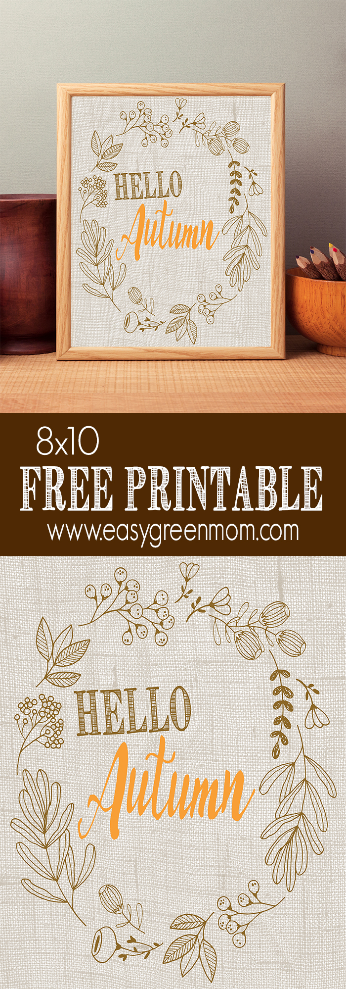 Hello Autumn Free Printable from rays of bliss