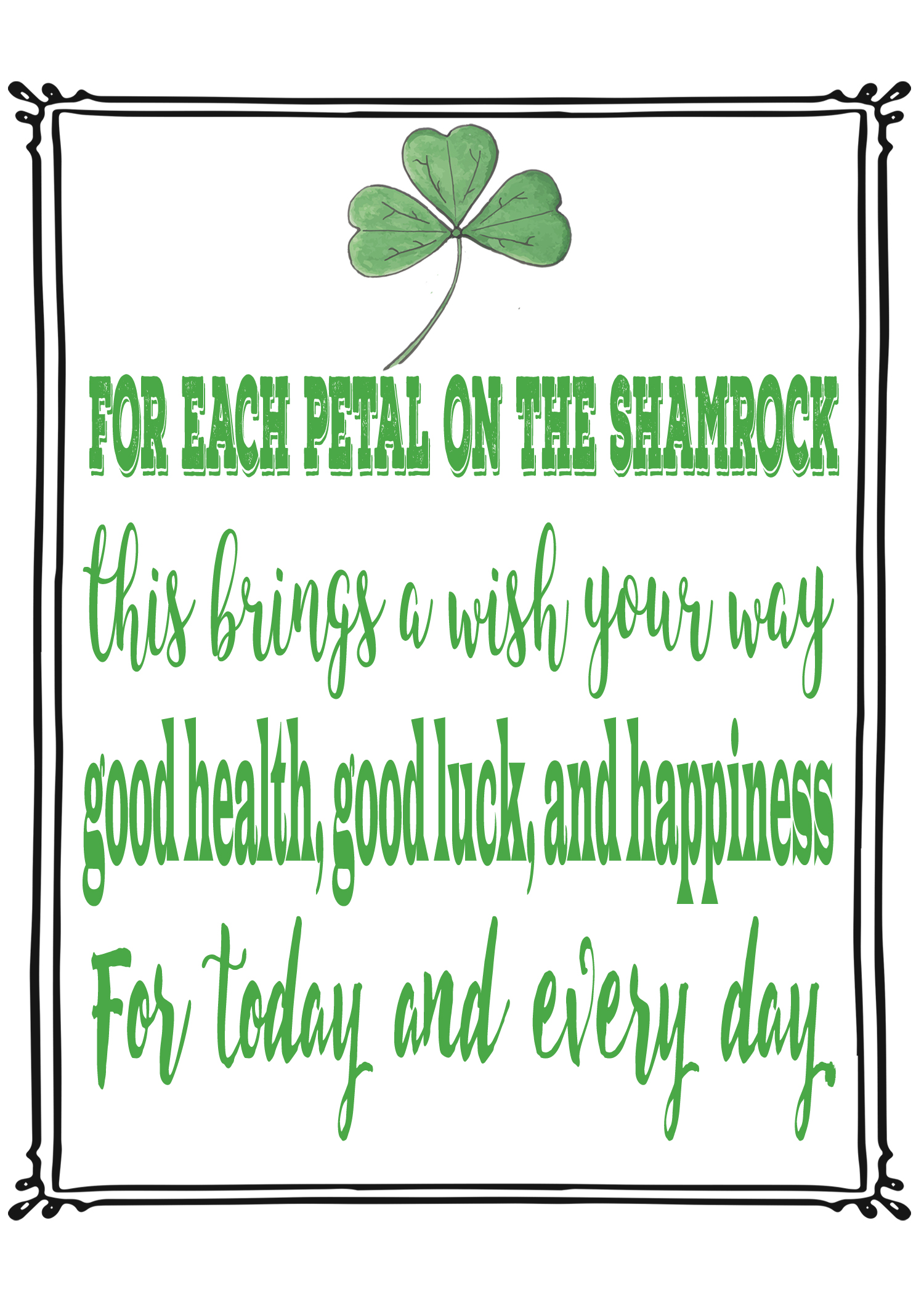 St Patrick S Day Quote Art Free Printable From Rays Of Bliss