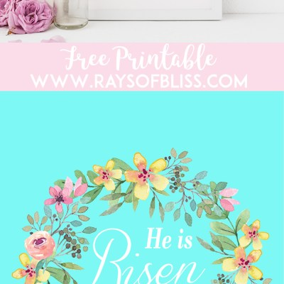 He is Risen Easter Free Printable