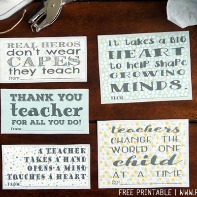 Free Printable Teacher Appreciation Notes