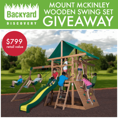 Mount McKinley Wooden Swing Set Giveaway!