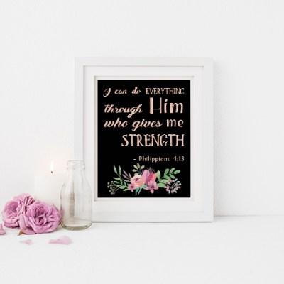 Bible Verse Free Printable Philippians 4:13