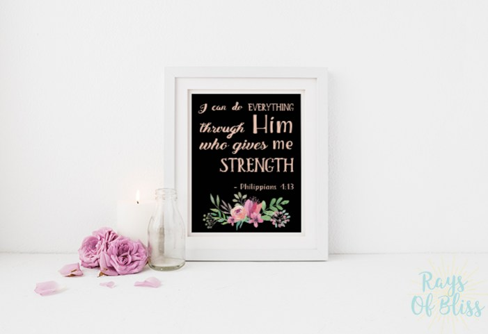 Bible Verse Free Printable Philippians 4:13
