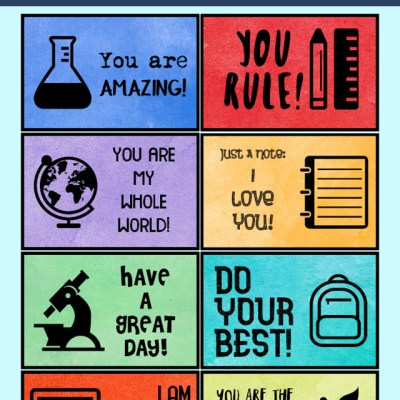 School Lunch Box Notes – Free Printable
