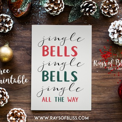 Jingle Bells ~ Christmas Free Printable