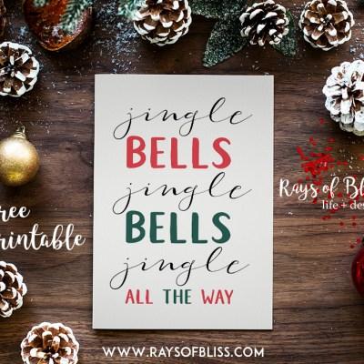 Jingle Bells ~ Christmas Free Printable