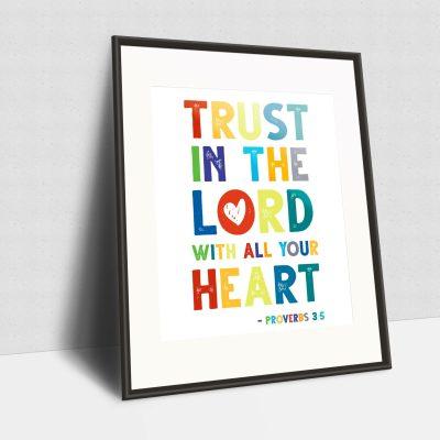 Kids Bible Verse Free Printable – Proverbs 3:5
