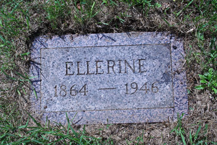 Ellerine Isakson Grave Marker - Photo by Tony Hanson