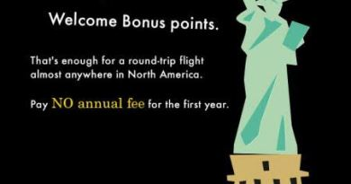 American Express Gold Rewards Card: FREE 30,000 Points = FREE Flight to Anywhere in North America!