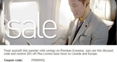 WestJet: Save 20% on Plus Lowest Base Fares Coupon Code (Book by July 12)