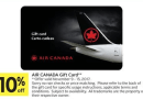 Sobeys: 10% Off Air Canada Gift Cards (Nov 10-16)