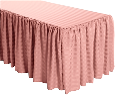 Buy Shirred Stripe Polyester Table Skirt  Bulk Price