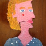 Ksenia Cardboard Cartoon Portrait