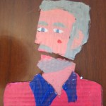 Papa Cardboard Cartoon Portrait