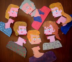 The Gorbenko Family Alive - cardboard cartoon family portrait (3)