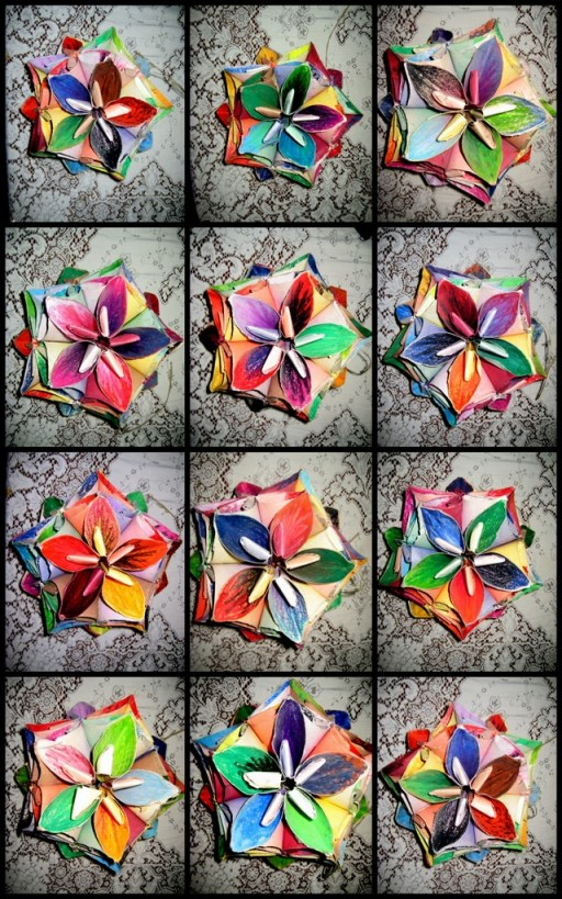 The Kusudama Flower Ball Modular Origami Project