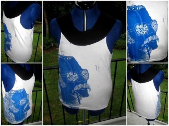 Razblint - Cem Karaca Shirt - Blue on White